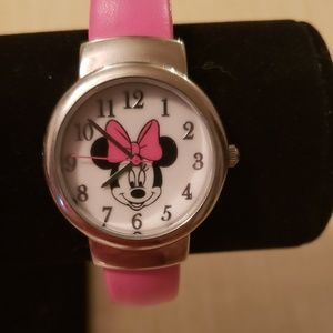 DISNEY Minnie Mouse Pink Bangle bracelet watch